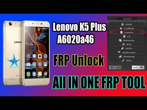 Lenovo K5 Plus (A6020a46) Frp Unlock | All In One Frp Tool