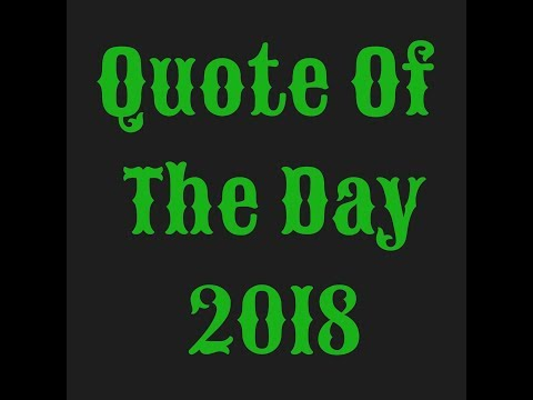 Quote Of The Day: Be A Respectful Person To ALL  5.5.18