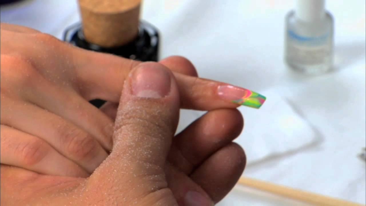 Acrylic Marble Design Part 2 Of 2 Acrylic Nails Youtube