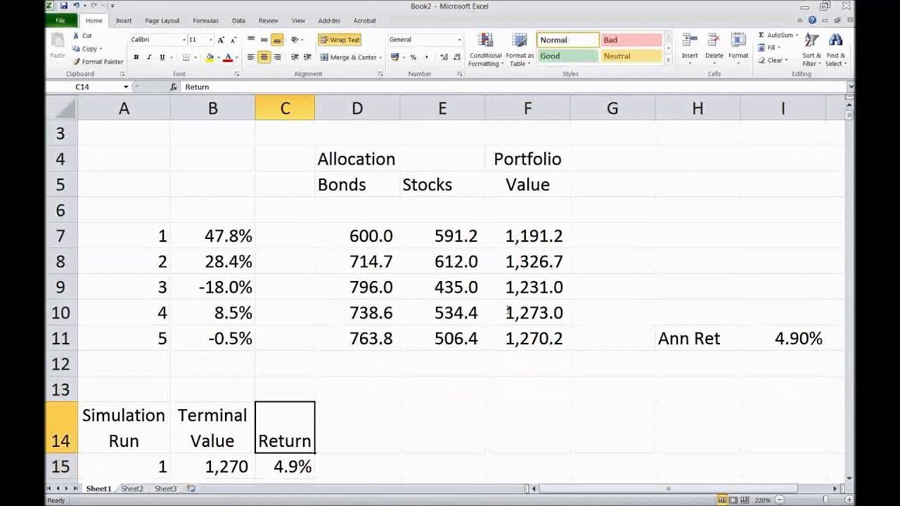 Monte Carlo Model Excel