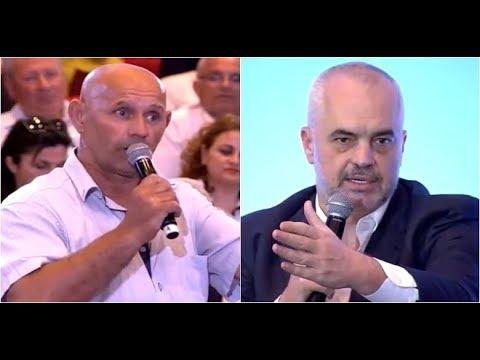 Report TV - Llogaridhënia publike në Lezhë, qytetari Ramës: Je Zoti i dytë
