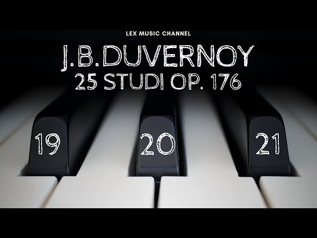 J.B.DUVERNOY 25 STUDI OP. 176 NN 19-20-21