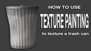 Blender Texture Paint Tutorial: Create a trashcan.