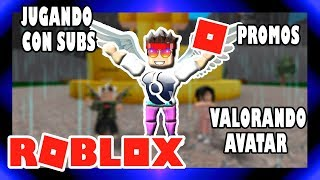 🔴ROBLOX 👀VALUEING AVATAR👀🌟PROMOS🌟🎮 PLAYING VIP SERVER WITH SUBSCRIBERS🎮