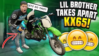 little-brother-takes-apart-my-kx65-braap-vlogs
