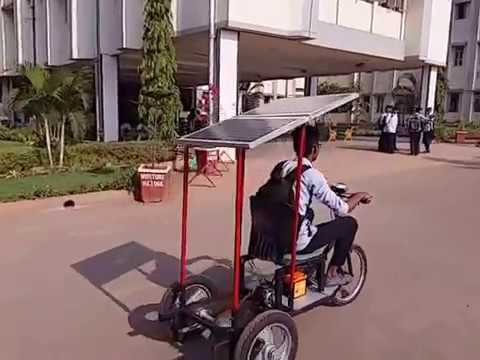Mechanical Diploma Project. Solar Cycle / Tricycle  made by A.R Kalsekar Polytechnic Students.