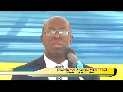 Rwanda's biggest cement factory( CIMERWA),  officially launched by Prime Minister Anastase Murekezi.