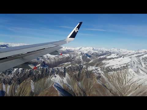 Scenic view as plane is descending to Queenstown Airport
