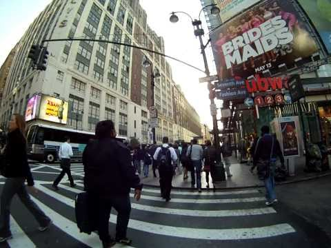NYC Commute NJ Transit to Midtown Walk GoPro camera.MP4