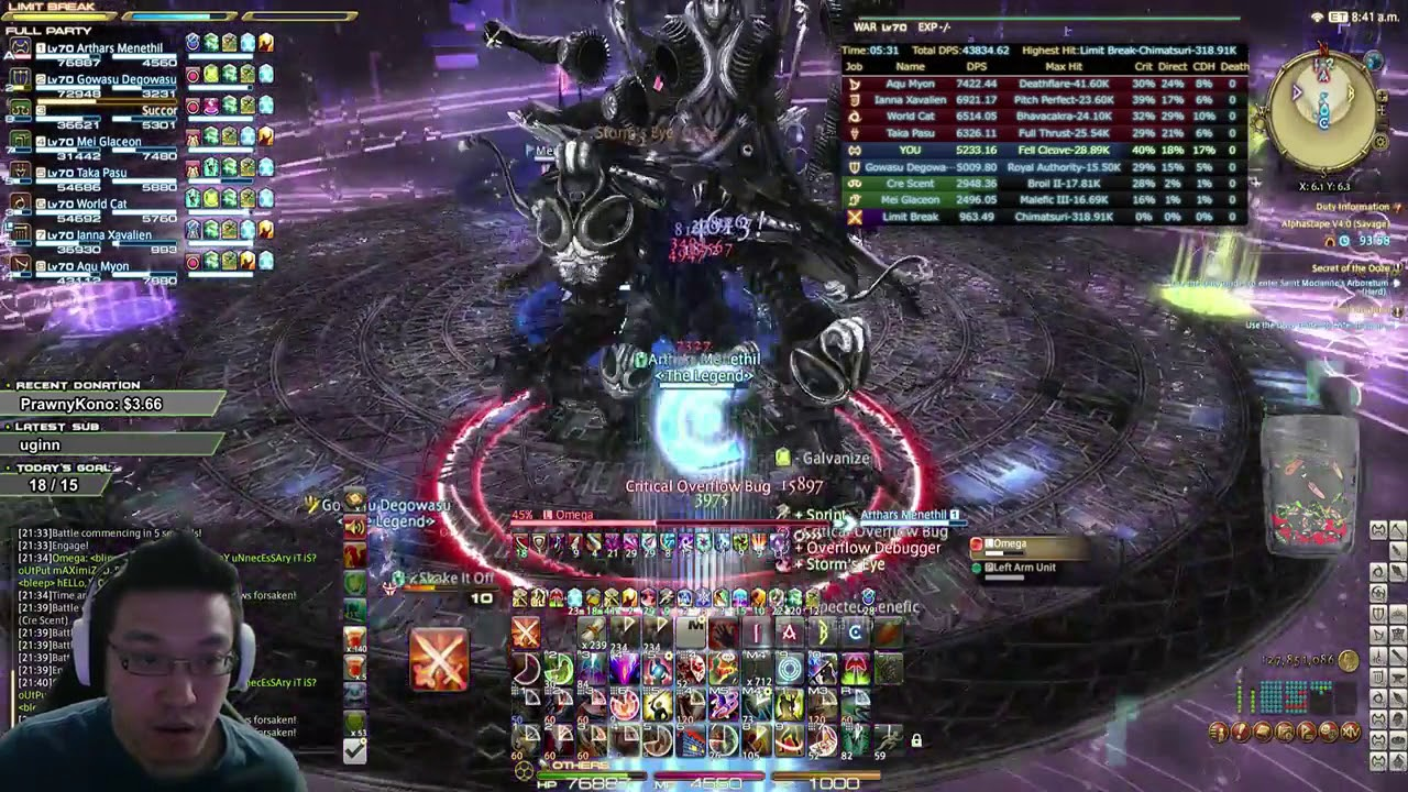 FF14 Alphascape Savage Turn 4 Cleared! WAR PoV System out println(`Hello,  World`)