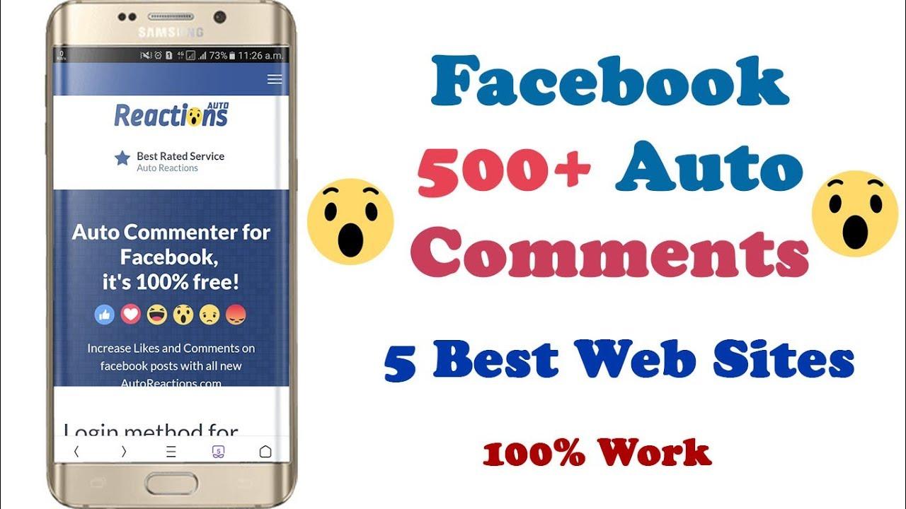 Auto commenter site for fb