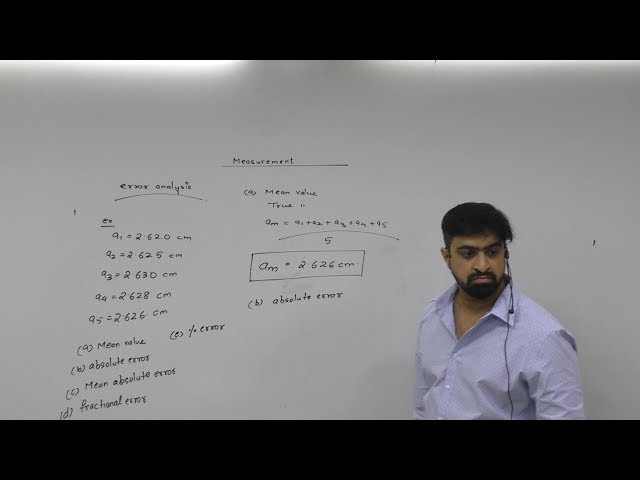 Measurement. JEE (Main, Advanced) / NEET