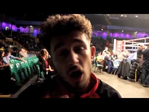 UNDEFEATED WELSH PROSPECT RHYS EVANS OUT POINTS ROB SHARPE IN NEWCASTLE - POST FIGHT INTERVIEW