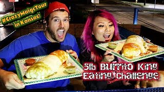 5lb Burrito Eating Challenge in Lawrence, Kansas | Burrito King #CrazyMagicTour - #RainaisCrazy
