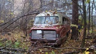 В лесу найден уникальный Икарус 55. Retro Bus. Советские автобусы. 5 серия