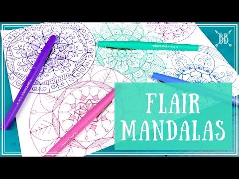 "Paper Mate Flair ""Candy Pop"" Mandalas"