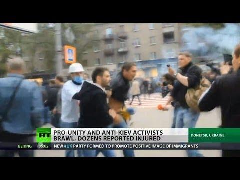 Violent clashes erupt in Donetsk, Ukraine