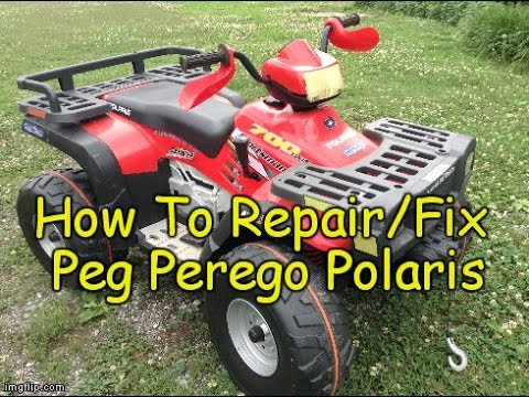 how to repair fix peg perego polaris 700 sportsman 4 wheeler 12v Polaris Xplorer 400 Wiring Diagram how to repair fix peg perego polaris 700 sportsman 4 wheeler 12v troubleshooting youtube