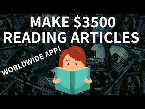 Make $3,500 JUST READING NEWS! (Money Making Apps Worldwide)