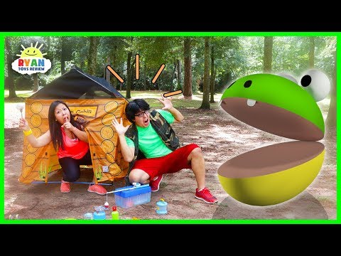 Pac-Man in Real life Camping Trip vs Ryans Mommy and Daddy!
