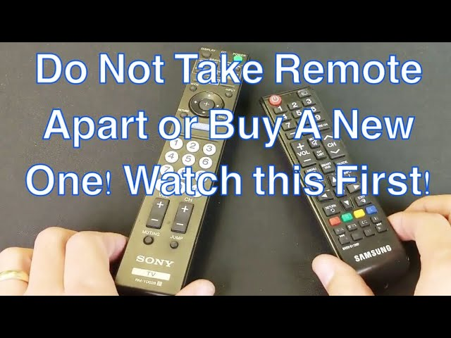 How To Fix Any Tv Remote Not Working Power Button Or Other Buttons Not Responsive Ghosting Youtube