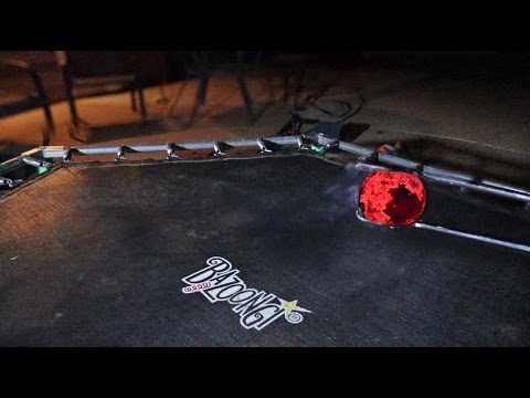 1000 DEGREE RED HOT BALL VS TRAMPOLINE