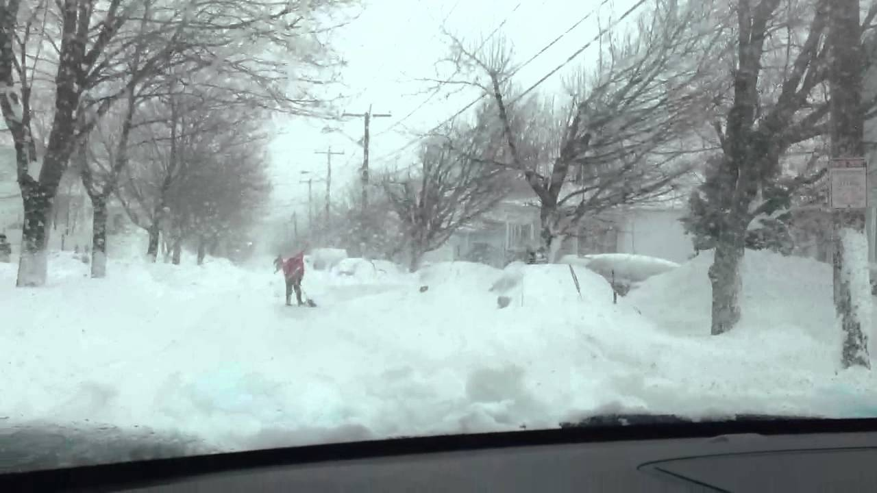 Driving Through the blizzard ( Nemo Snow Storm ) in my ...