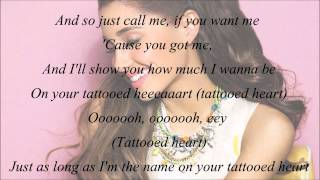 Description- Here's a lyrics of ariana grandes tattooed heart subsc...