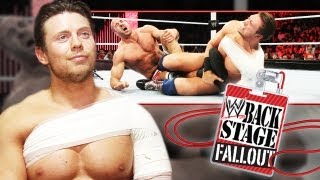 Backstage Fallout - The Miz and his awesome victory - Raw - February 18, 2013