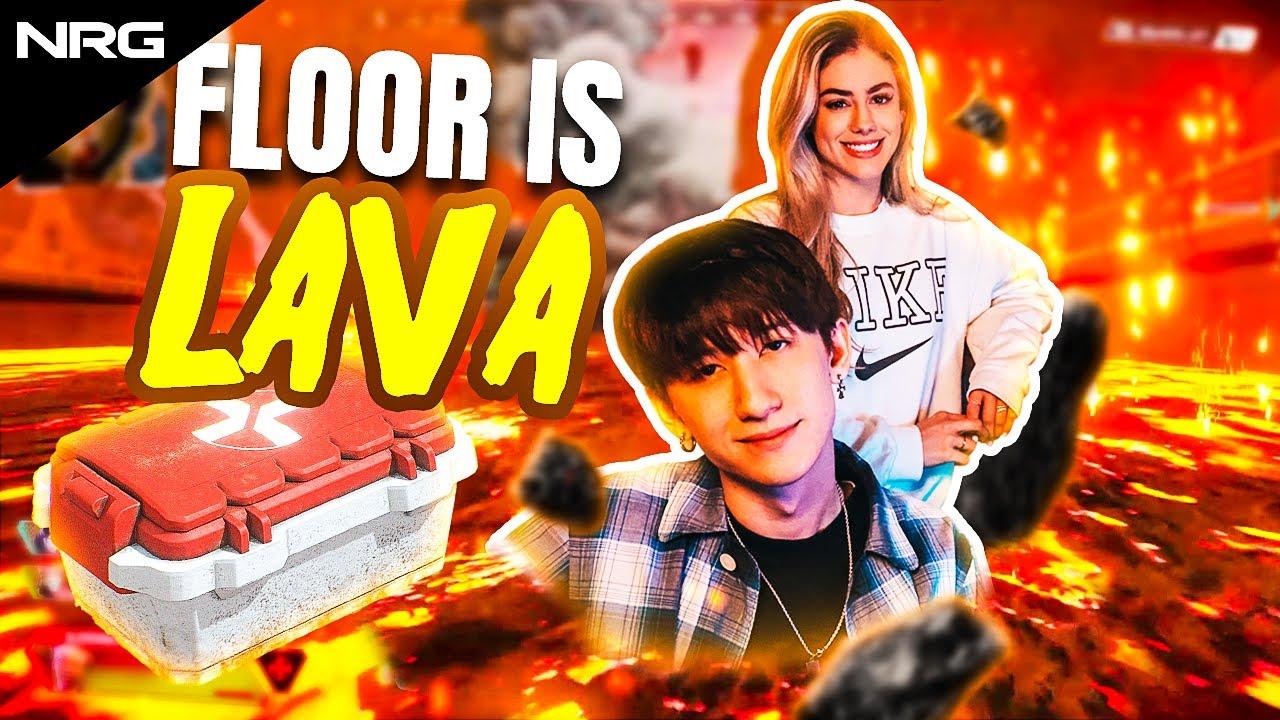 The Floor is Lava Challenge w/ aceu & LuluLuvely