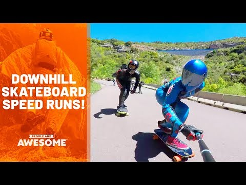 Downhill Skateboarding Speed Runs | People Are Awesome