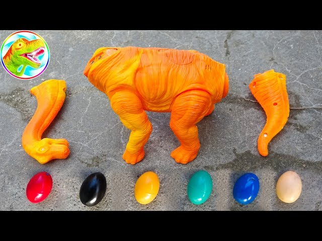 Dinosaur Walking and Laying Eggs Toys Learn Colors & Numbers for Children #2 - G210V