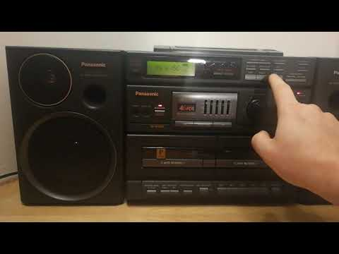 Panasonic RX-DT680 - Boombox - Ghetto Blaster- Walk Through - Working - Test