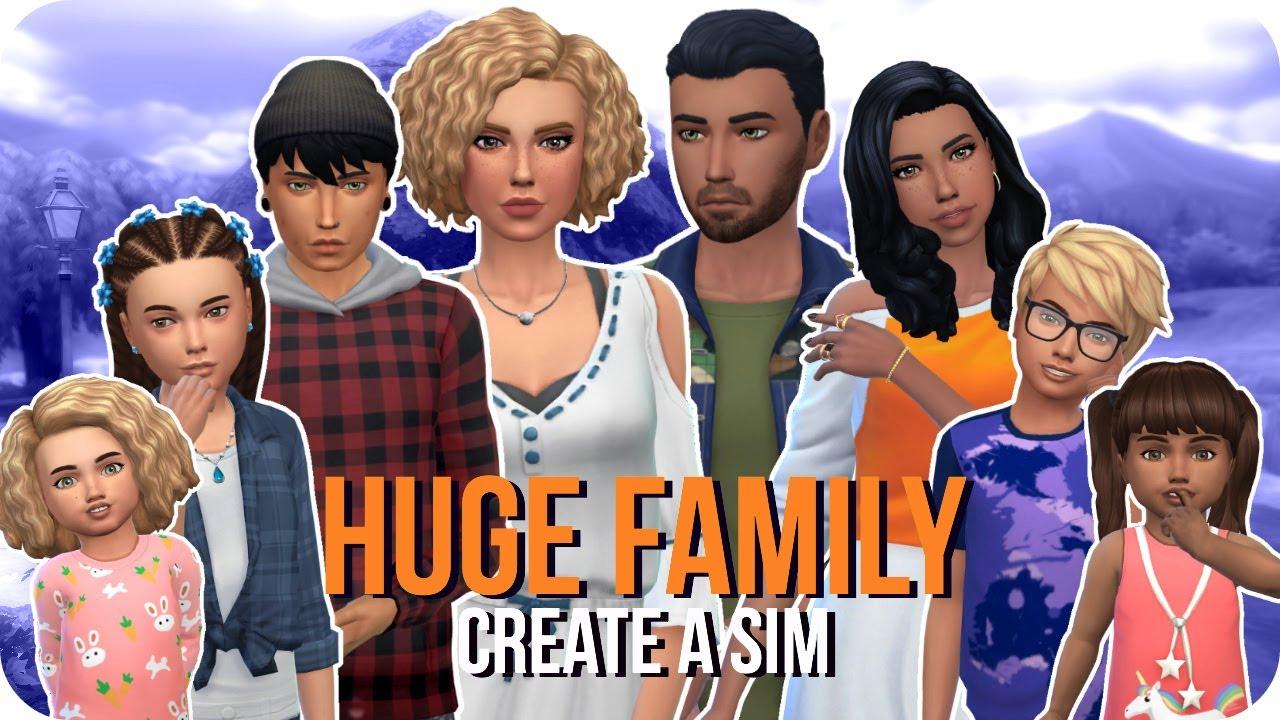 Sims 4 Parenthood | Huge Family Create A Sim