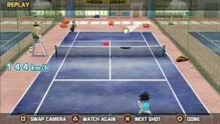 Hot Shot Tennis first boss Troy gameplay and secret cheats