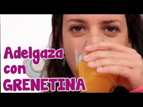 la gelatina sin sabor sirve para bajar de peso