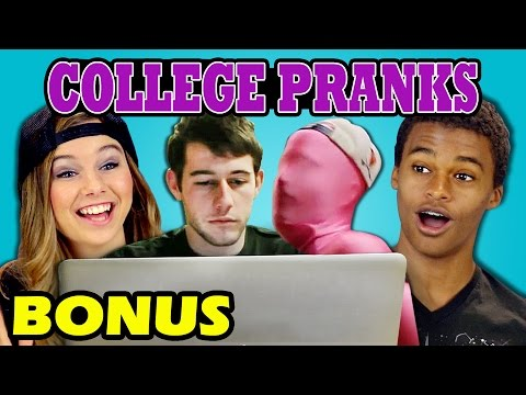 TEENS REACT TO COLLEGE PRANKS (Bonus #94)