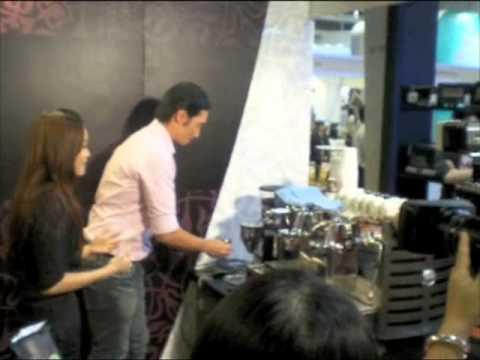 Moses Chan making an Italian espresso
