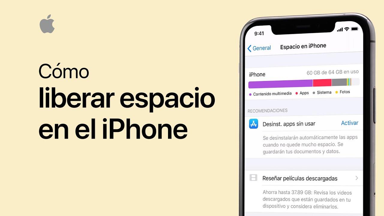 Cómo liberar espacio en el iPhone, iPad y iPodtouch - Soporte técnico de Apple