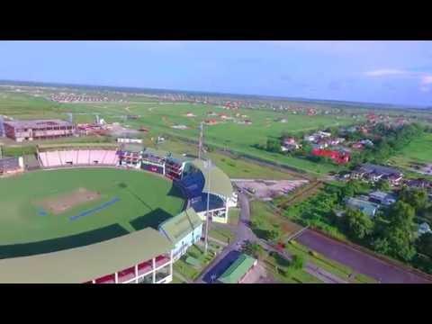 Above Guyana- Guyana National Stadium