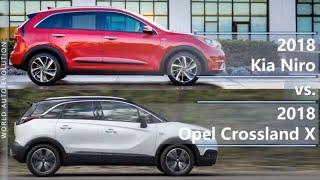 2018 Kia Niro vs 2018 Opel Crossland X (technical comparison)