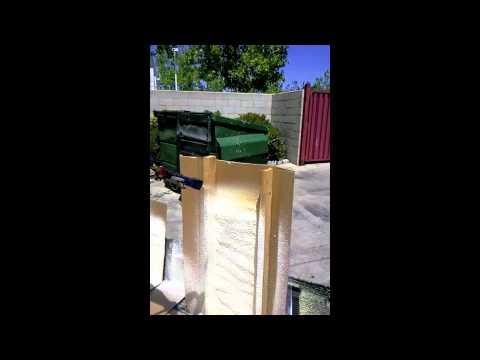 Vortex Sprayliners Spraying Foam