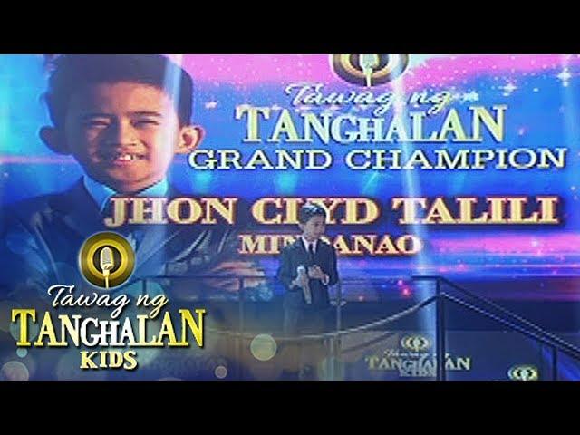 Tawag ng Tanghalan Kids: John Clyd Talili wins Tawag ng Tanghalan Kids
