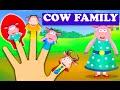 Cow Finger Family - Finger Family Rhymes For Children