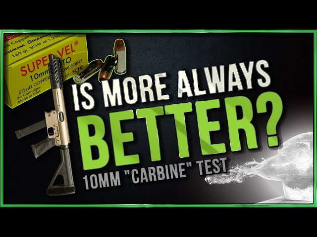 Is More Always Better? 160gr Super Vel SCHP 10.25