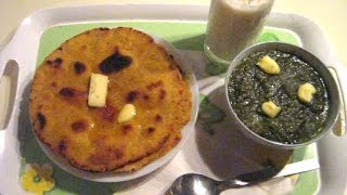 Original Makki Ki Roti And Sarson Ka Saag Recipe (Cornmeal Indian Bread)