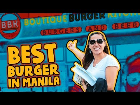 Memory Keepers! Best Burger in Manila!
