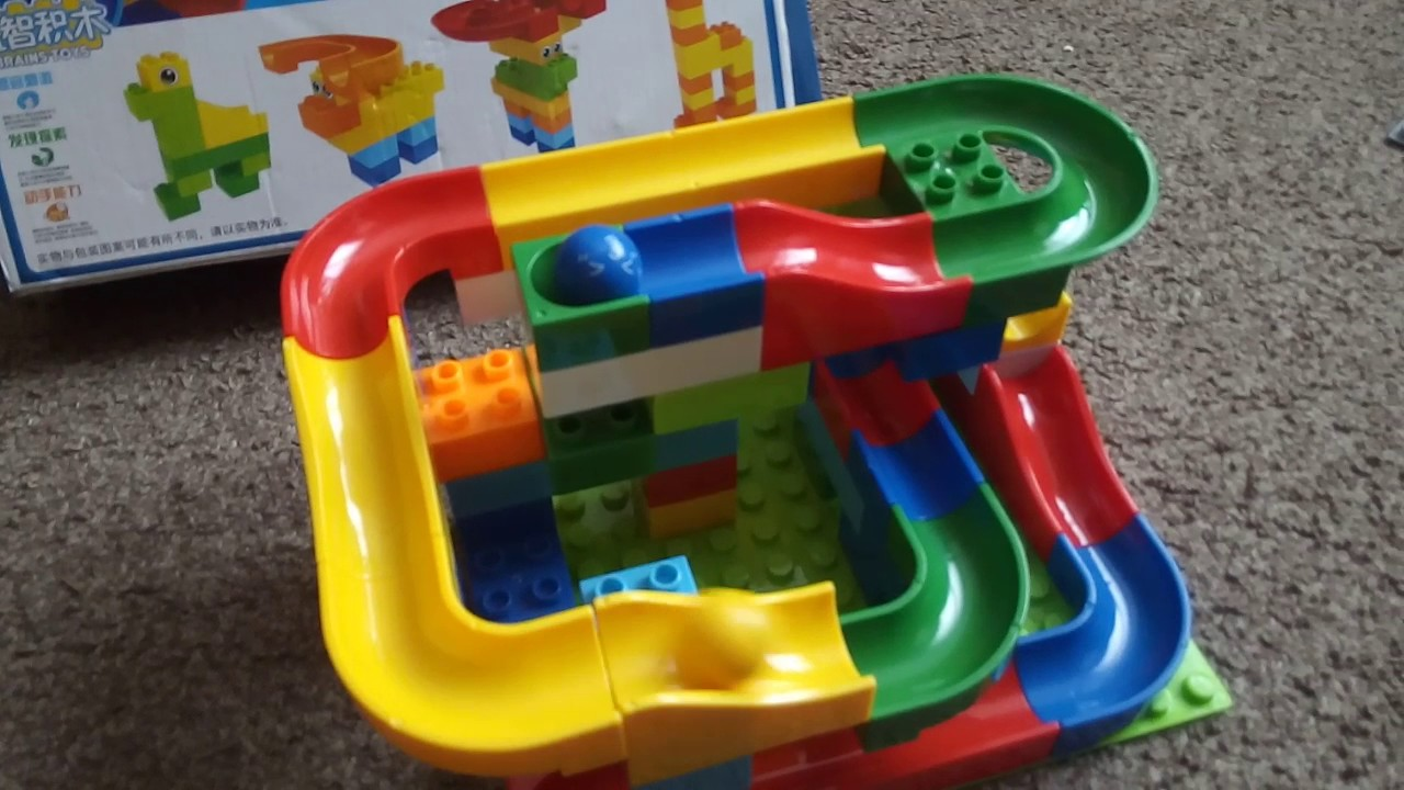 Chinese Copy Of Hubelino Marble Run Lego Duplo Compatible Youtube