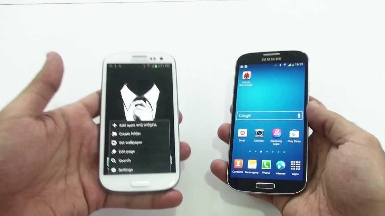 مقارنة هاتف سامسونج اس 4 و سامسونج اس 3