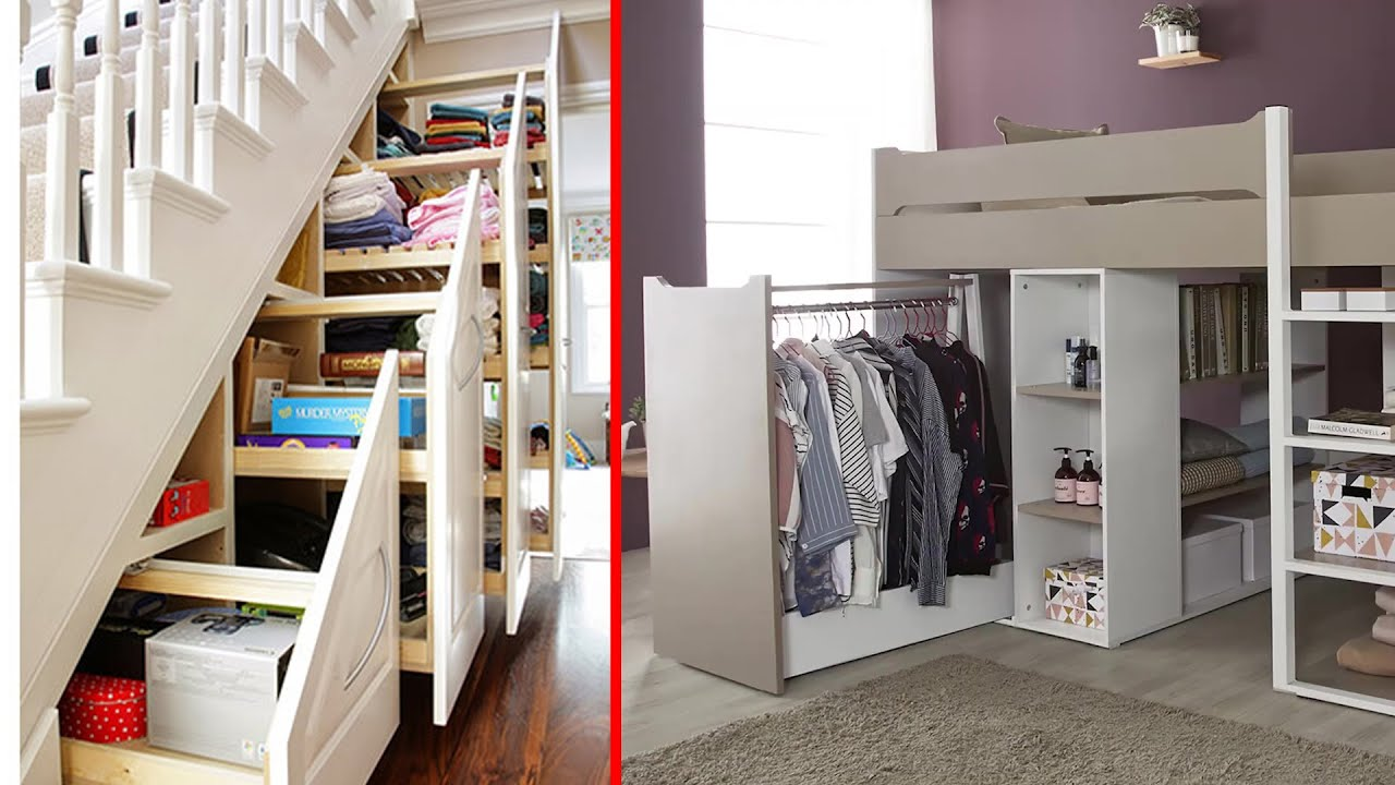 20 Smart Ideas How to Make Small Bedroom Look Bigger - YouTube